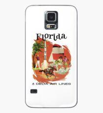Florida Delta Air Lines Vintage Travel Poster Case/Skin for Samsung Galaxy