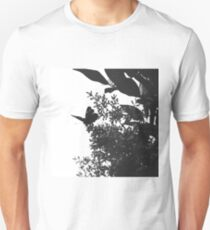 Elegant Butterfly in Black and White T-Shirt