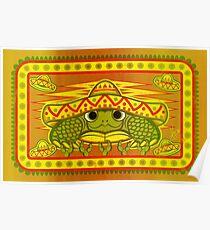 Sombrero Turtle! Poster