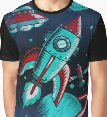 Retro Space Graphic T-Shirt