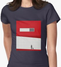 Funky Little Red Building Women's Fitted T-Shirt