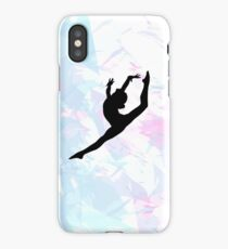 Water Colour Gymnastics Silhouette  iPhone Case