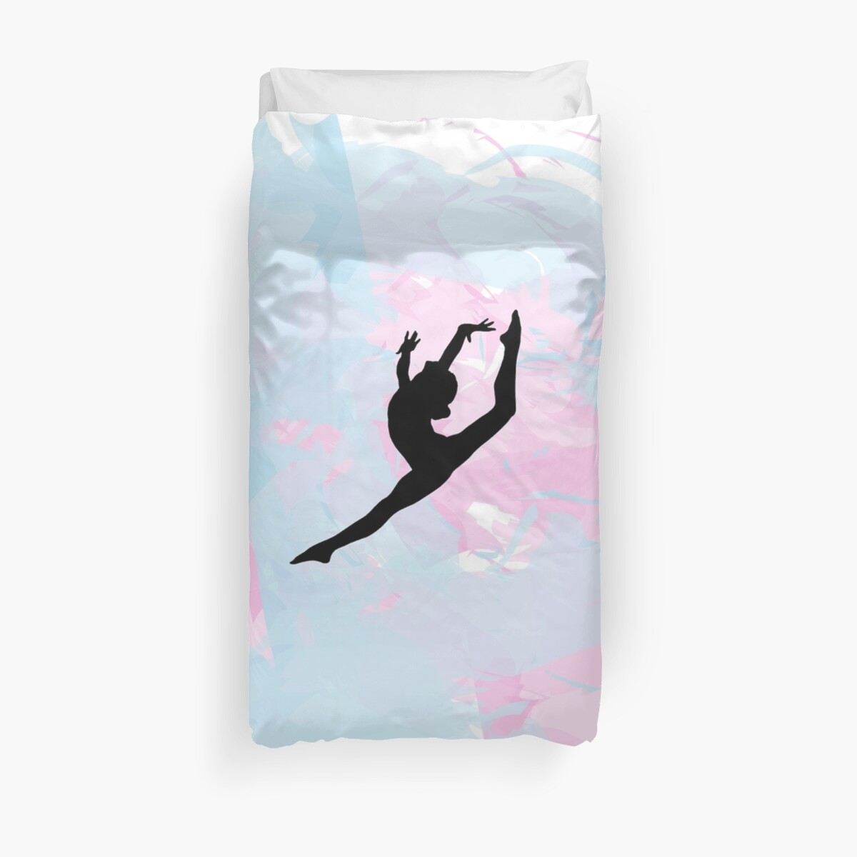 Water Colour Gymnastics Silhouette  by Flexiblepeople