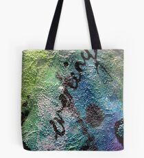 Mixed Media Abstract Art Tote Bag