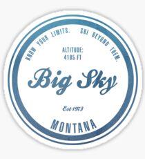 Big Sky Ski Resort Montana Sticker