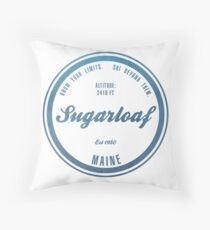 Sugarloaf Ski Resort Maine Throw Pillow