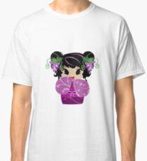 Purple Grapes Kokeshi Doll Classic T-Shirt