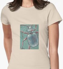 Shiny Beetle Womens Fitted T-Shirt