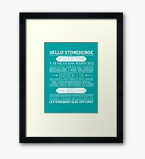 Doctor Who - The Pandorica Opens Typography Print Framed Print