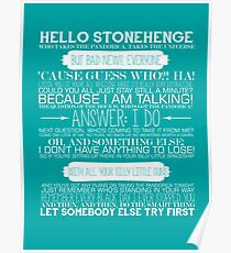 Doctor Who - The Pandorica Opens Typography Print Poster