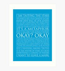 The Fault In Our Stars Block Typography Print Art Print