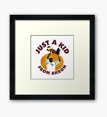 Just A Kid From Akron Framed Print