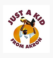 Just A Kid From Akron Photographic Print