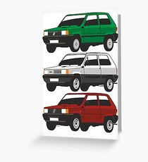Fiat Panda first generation Greeting Card