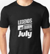 Legends July Born Unisex T-Shirt