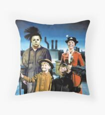 Michael Myers in Mary Poppins Throw Pillow