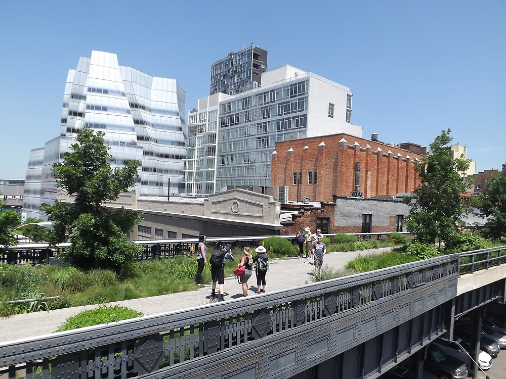Frank Gehry Architecture on the  High Line, New York City's Elevated Garden and Park  by lenspiro