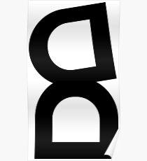 Eskimo Logo Black and White Poster