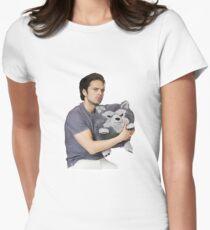 Sebastian Stan Womens Fitted T-Shirt