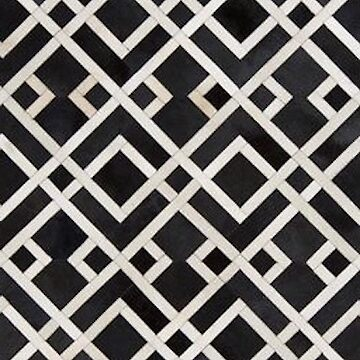 black mosaic pattern by Ica13