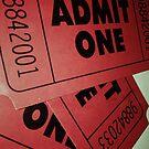 «Vintage Admit One Film Ticket Poster (+card/prints)» de Napy