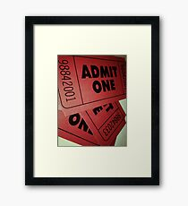 Vintage Admit One Film Ticket Poster (+card/prints) Framed Print