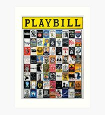 Playbill Design Art Print
