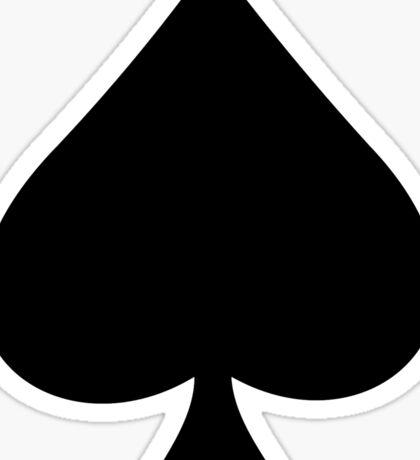 ACE of Spades T-Shirt Lucky Lady Luck Sticker Skirt Duvet Sticker