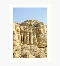 Eroded cliff made of marl.  Art Print