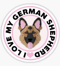 Love My German Shepherd Sticker