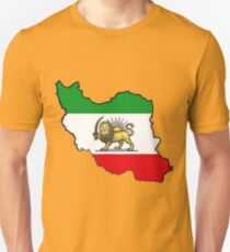 Iran Map With Iranian Flag Unisex T-Shirt