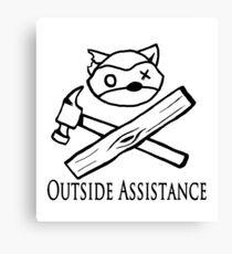 Outside Assistance Canvas Print