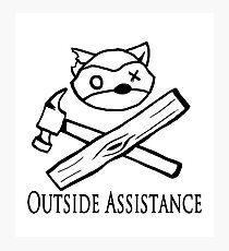 Outside Assistance Photographic Print