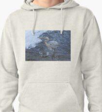 Heron - Great Blue Pullover Hoodie
