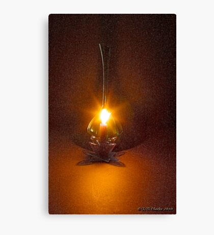 A candle flame and breeze - Fractalius Canvas Print