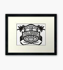 Back to Back Full Season Champions - Modern Framed Print