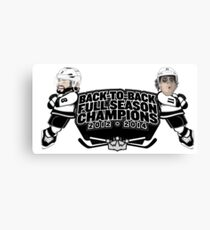 Back to Back Full Season Champions - Cartoon Canvas Print