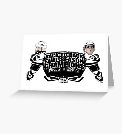 Back to Back Full Season Champions - Cartoon Greeting Card