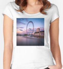 London Eye,London,UK Women's Fitted Scoop T-Shirt