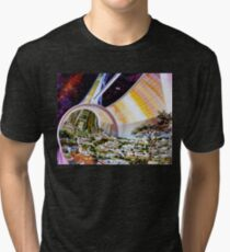 Space Colony Sci Fi Tri-blend T-Shirt