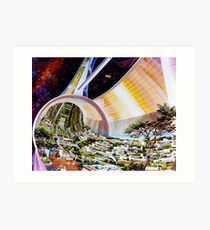 Space Colony Sci Fi Art Print