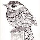 Tangled Little Flycatcher by Christianne Gerstner