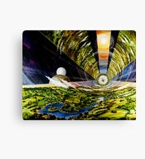 Space Colony, Cylinder Canvas Print