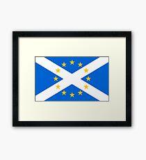 Scotland in EU Framed Print
