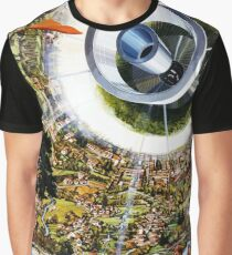 Space Colony - Suburb of the Future Graphic T-Shirt