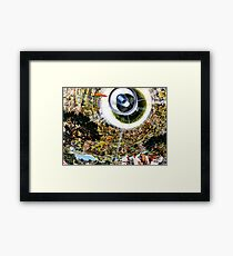 Space Colony - Suburb of the Future Framed Print