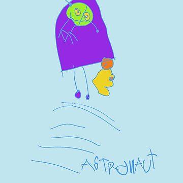 astronaut in rocketship by pixelP