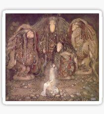 TROLL, Fairy Tales, Swedish, Sweden, John Bauer, Trolls, and a Princess,  Sticker