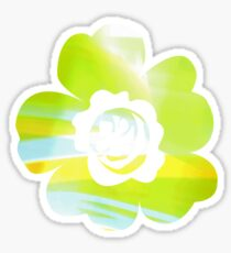 In Between Green, Yellow and Blue - JUSTART ©  Sticker