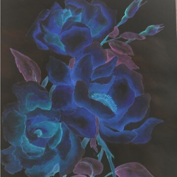 blue rose by atouchofcanvas